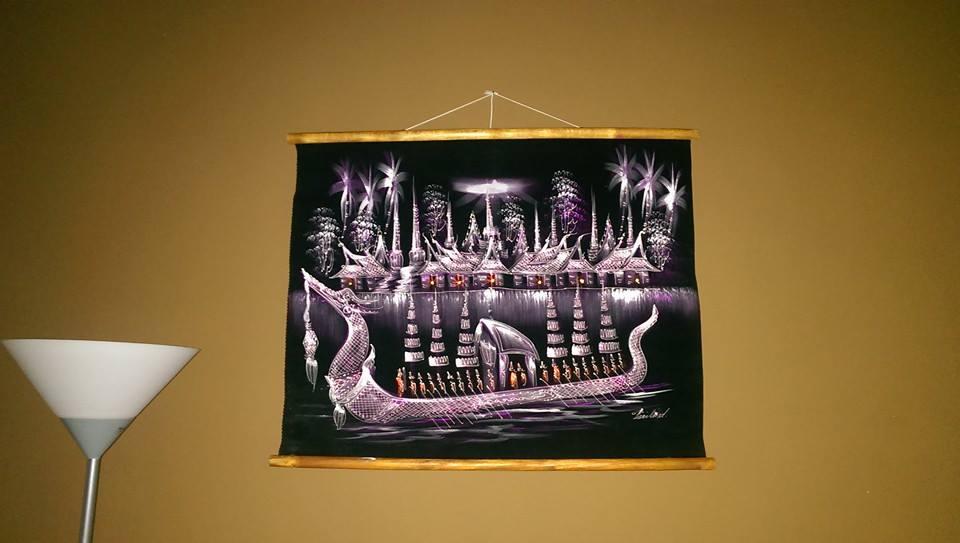 Originálna dekorácia z Thajska-Noc